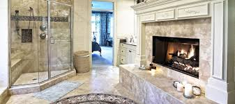 Cool Small Bathroom Ideas by Cool Small Bathroom Design With Stone Fireplace And Oval White