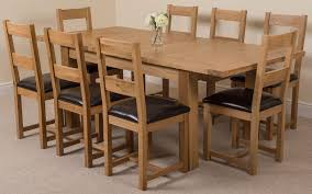 Dining Room Tables Seattle Chair Dining Room Table And Chairs Solid Oak 8 For Sale 580589
