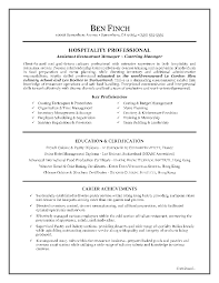 Guest Service Representative Resume Examples  Hospitality Professional As Assistant Restaurant Manager And Catering Manager With Key Proficiencies And     Rufoot Resumes  Esay  and Templates