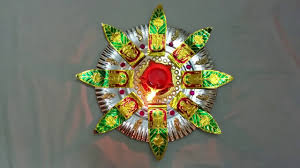 Home Made Decoration by Very Simple Homemade Aarthi Tray Decorative Plate Youtube