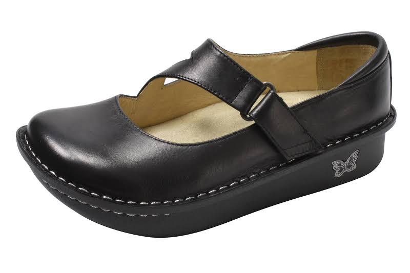 Alegria Dayna Mary-Jane Shoe 5-5.5 US in Black Nappa