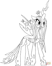 my little pony queen chrysalis coloring page free printable