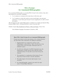 sample annotated bibliography mla format