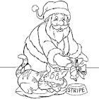 CHAT PÈRE NOËL : Coloriage chat père Noël en Ligne Gratuit a