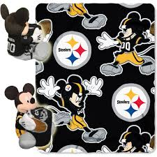 disney nfl pittsburgh steelers hugger pillow and 40