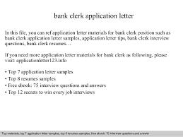 Job Application Letter Clerk Job