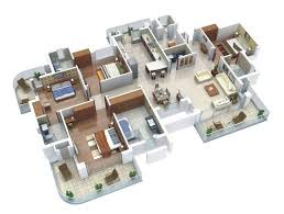 Best D Floor Plans Images On Pinterest Floor Plans Guest - Apartment house plans designs