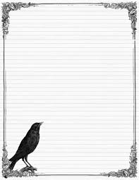 halloween letter template sweetly scrapped free stationary with crows and roses variety