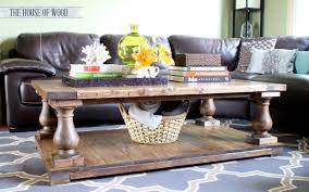 ana white balustrade coffee table diy projects