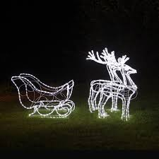 outdoor reindeer lights outdoor lighted sleigh home decorating interior design bath