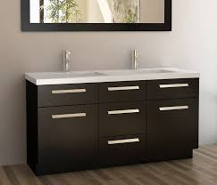 55 Inch Double Sink Bathroom Vanity by Design Element Moscony Single Sink Vanity Set With Espresso Finish