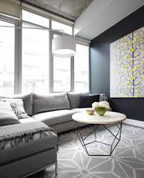 Living Room Design Ideas With Grey Sofa Contemporary Condo Living Room With Gray Sofa Geometric Area