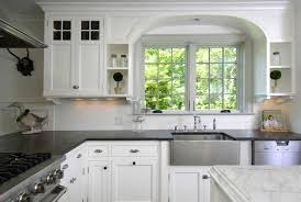 Off White Kitchen Cabinets With Black Countertops Lowes Off White Kitchen Cabinets White Kitchen Cabinets Lowes