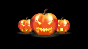 halloween background 1366x768 three funny pumpkins lanterns hd halloween wallpaper