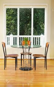 Bamboo Dining Room Furniture by Vertical Photo Of Small Dining Room With Red Oak Floors Glass