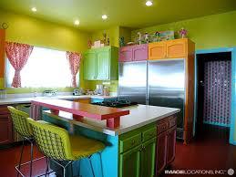 Orange And White Kitchen Ideas Kitchen Cool Colorful Kitchen Decor With White Plain Ceramic