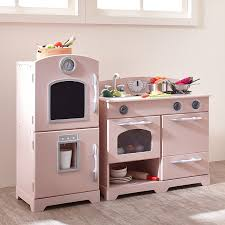 amazon com teamson kids retro wooden play kitchen with
