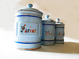 new french country canister set on furniture with french country