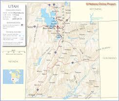 Map Of Utah And Colorado by Map Of Utah