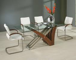 modern glass dining table and chairs luxury modern glass dining