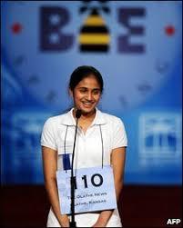 Kavya Shivashankar after winning the 2009 Scripps National Spelling Bee competition in Washington, DC (. Kavya Shivashankar was the seventh Indian American ... - _45840088_007404301-1
