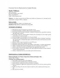 Summary Sample Resume by Neoteric Objective For Customer Service Resume 8 Job Summary