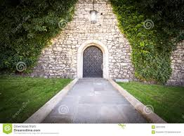 Small Castle by Old Castle Door Stock Photos Image 16665643