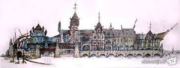 Een vroege concept-tekening van het gebouw getekend door Karel Willemen, waarin ook een deel van de ... - dvhconcept1