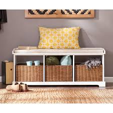 White Entryway Table by Amazon Com Southern Enterprises Loring Entryway Storage Bench In