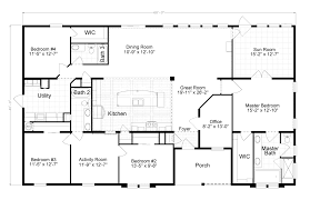 Floor Plans For One Level Homes by 100 5 Bedroom Floor Plans 1 Story 1 Bedroom Floor Plan