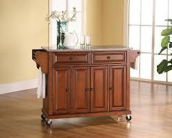 amazon com kitchen cart island solid granite classic cherry