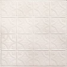 Picture Of Fasade Backsplash Traditional  In Paintable White - White tin backsplash