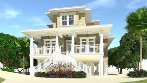 House On Pilings by 4 Bed Piling Home Plan With Great Views 44137td Architectural