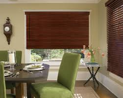 wood blinds shades in place