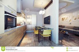 modern kitchen interior 3d render royalty free stock image image