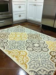 Rugs Kitchen Kitchen Rug Purchased From Overstock Com Blue Grey Yellow