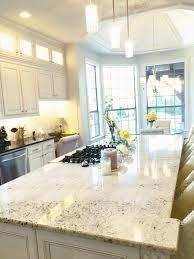 Kitchen Marble Backsplash Carrara Marble Backsplash And Granite Island White Dove Cabinets