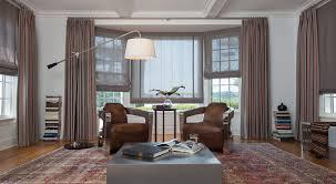 ideas for bay window treatments the shade store roman shades and drapery
