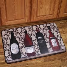 Rugs Kitchen Memory Foam Anti Fatigue Kitchen Floor Mat Wine Bottles Anti