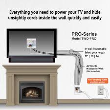 Hidden Cable Tv Wall Mount Hide Cords Of A Tv Mounted Over Fireplace Powerbridge