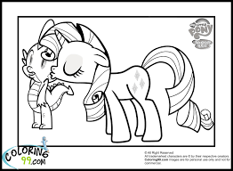 my little ponies coloring pages glum me
