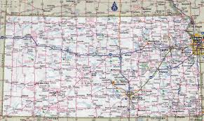 Detailed Map Of Germany by Large Detailed Roads And Highways Map Of Kansas State With Cities