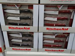 kitchenaid 4 piece ceramic knife set with sheaths