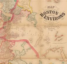 T Boston Map by Henry F Walling Map Of The Greater Boston Area Rare U0026 Antique Maps