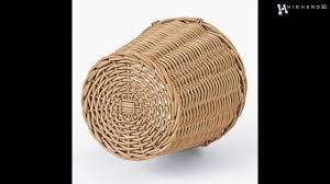 Ikea Wicker Baskets by Wicker Basket Ikea Nipprig With Apples 3d Model From Creativecrash