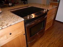 kitchen chocolate maple glaze kitchen island plus wine cellar