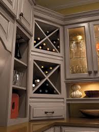 Corner Wall Cabinet Kitchen Built In Wine Rack Cabinet Storage Schrock Masterbrand
