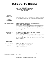 quick and easy resume builder basic resume outline template resume builder free outline for resume inside basic resume outline template