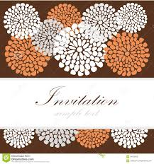 Card Invitation Wedding Birthday Card Or Invitation With Abstract Lace Floral