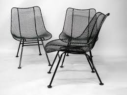 Mesh Patio Chairs by Wrought Iron And Mesh Dining Chairs By Russell Lee Woodard Co